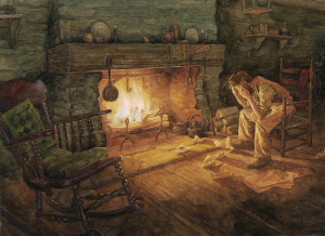 Jonathan Toomey by the fire