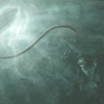 John underwater, illustration by PJ Lynch